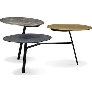 Ezra Three-Tier Coffee Table - Metallic