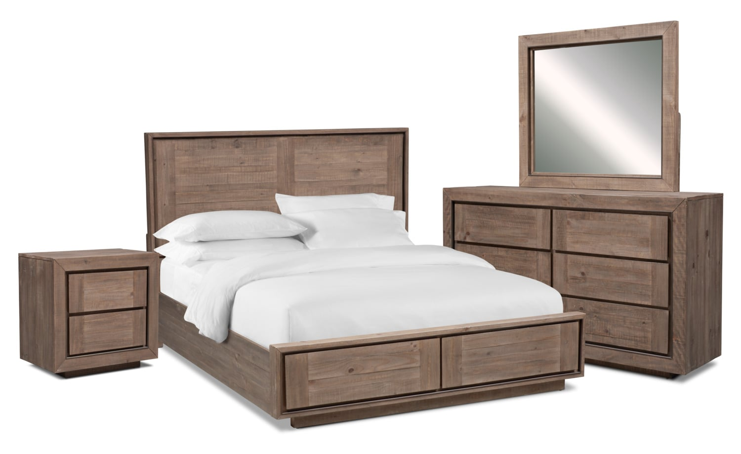 Henry 6-Piece Storage Bedroom Set with Nightstand, Dresser and ...