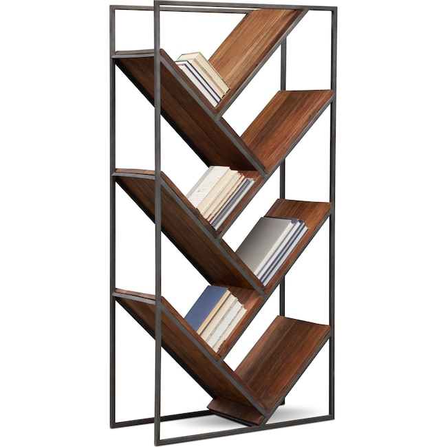 Accent and Occasional Furniture - Woodford Bookcase - Dark Brown