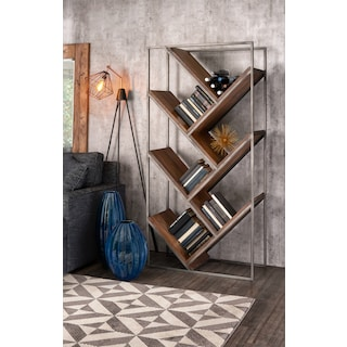 Woodford Bookcase - Dark Brown