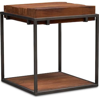 Woodford End Table - Dark Brown