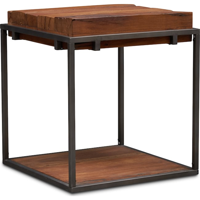 Accent and Occasional Furniture - Woodford End Table - Dark Brown