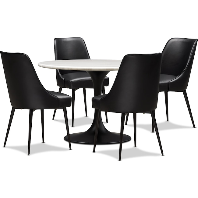 Dining Room Furniture - Lillian Dining Table and 4 Upholstered Side Chairs