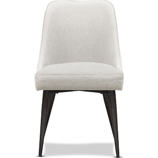 Lillian Upholstered Side Chair - Light Gray