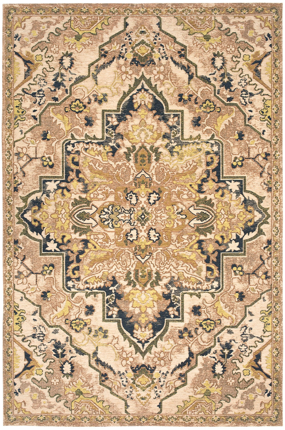 Woven 7 X 10 Area Rug Citron Navy Value City Furniture And