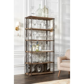 Veronica Bookcase Antique Black