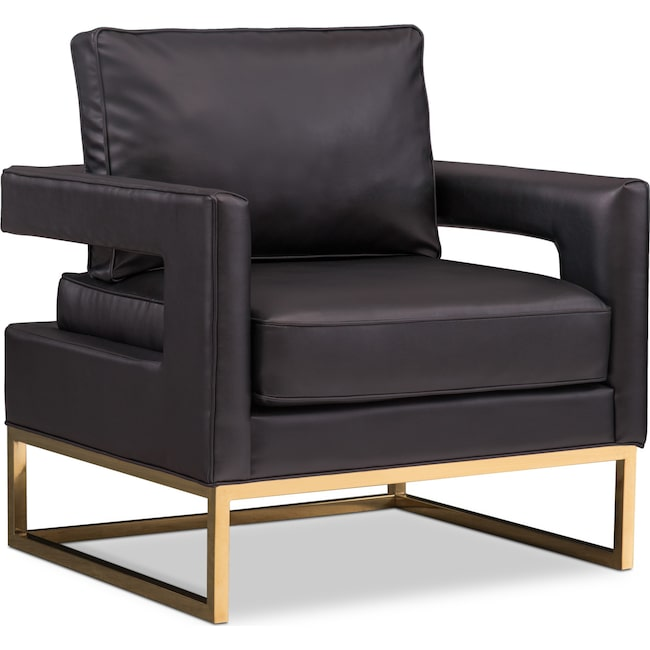 Bedroom Furniture - TOV Bright Eyed Accent Chair - Black