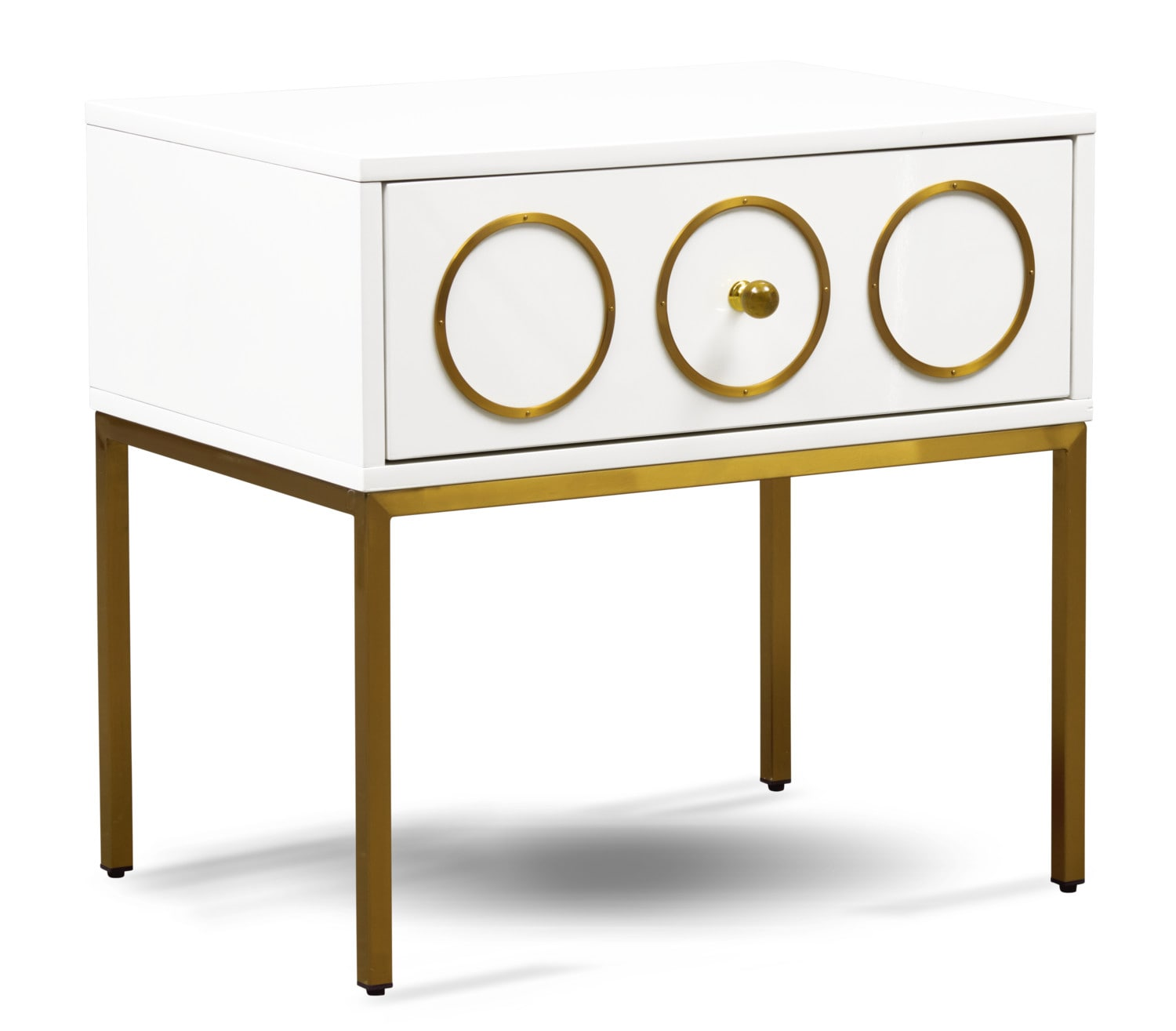Bedroom Furniture - TOV Bright Eyed Side Table - White