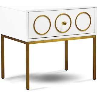 TOV Bright Eyed Side Table - White