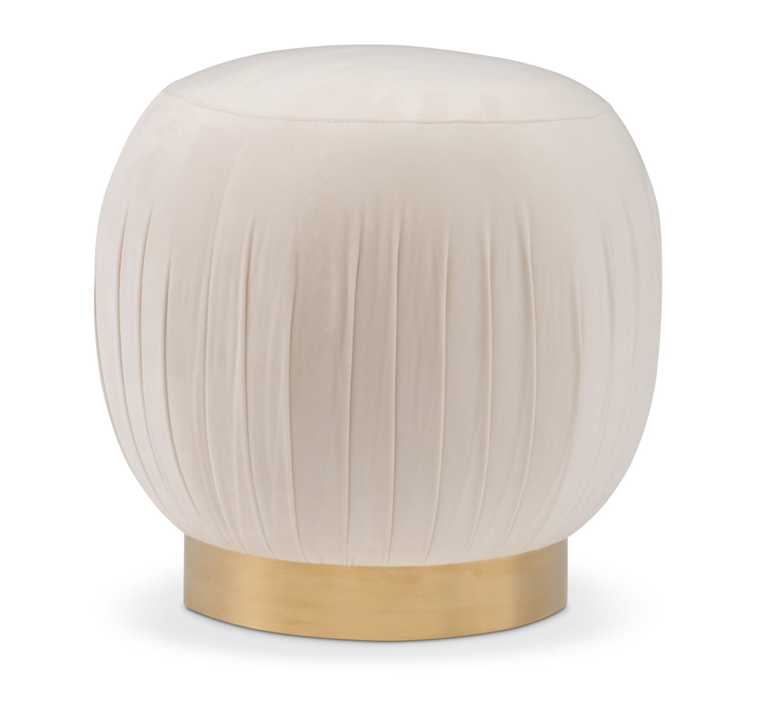 Bedroom Furniture - TOV Bright Eyed Ottoman - White