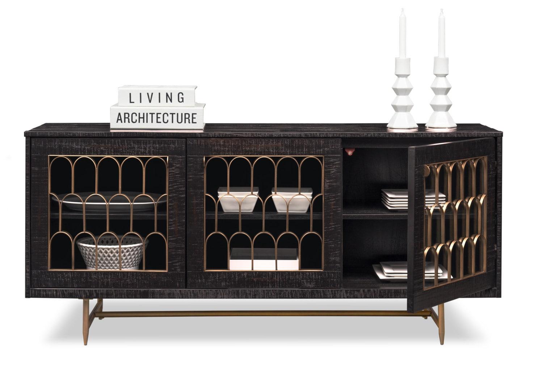 Tov Art Deco Buffet Black Value City Furniture And Mattresses