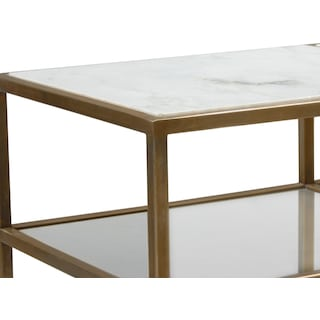 Evie Sofa Table - Marble