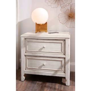 Florence 2-Drawer Nighstand - Antique Linen