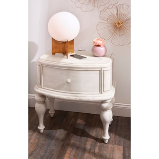 Florence 1-Drawer Nighstand - Antique Linen