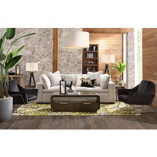 Plush Sofa - Gray