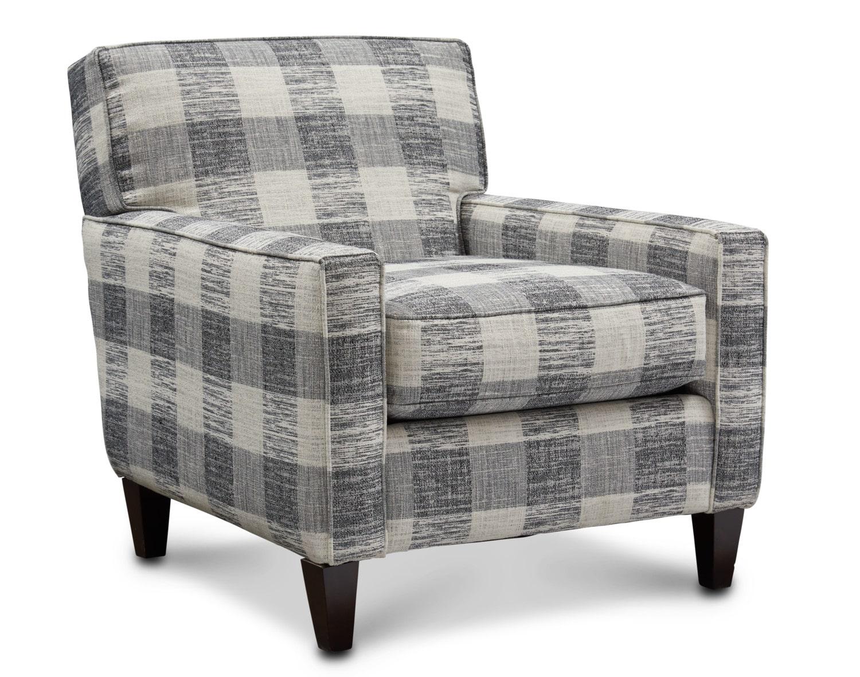 Living Room Furniture - Garrett Accent Chair - Plaid