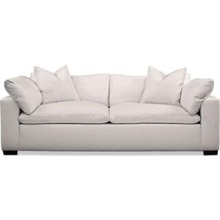 Plush Sofa - Ivory