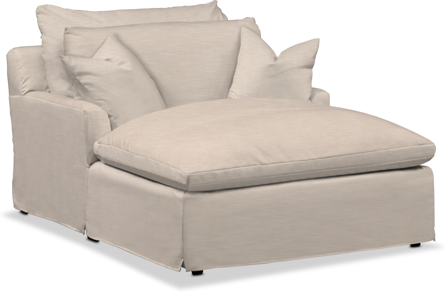 Living Room Furniture - Plush Chaise
