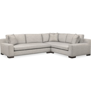 Ethan Comfort 2-Piece Large Sectional with Left-Facing Sofa - Ivory