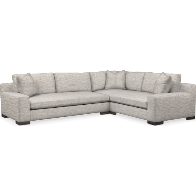 Living Room Furniture - Ethan 2-Piece Large Sectional
