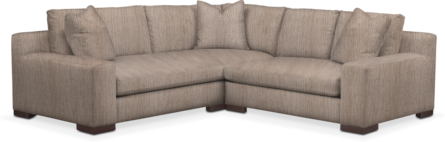 Living Room Furniture - Ethan 2-Piece Sectional with Loveseat