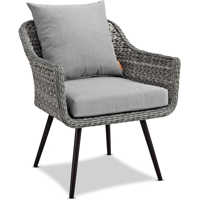 Outdoor Furniture - Palm Outdoor Armchair - Gray