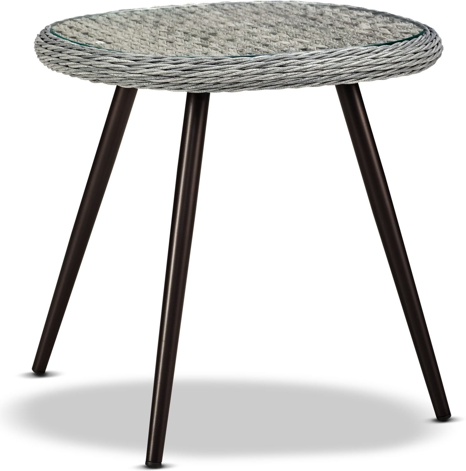 Outdoor Furniture - Palm Outdoor End Table - Gray