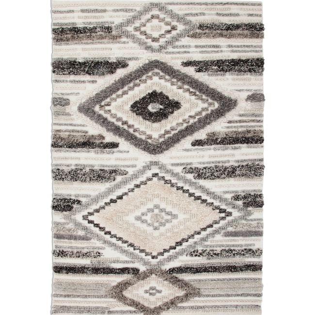 Rugs - Drake Area Rug - Ivory/Gray