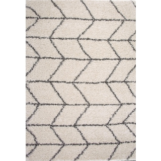 Elements 5' x 8' Area Rug - Ivory/Charcoal