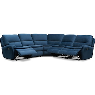 Cruiser 5-Piece Manual Reclining Sectional with 3 Reclining Seats - Ink