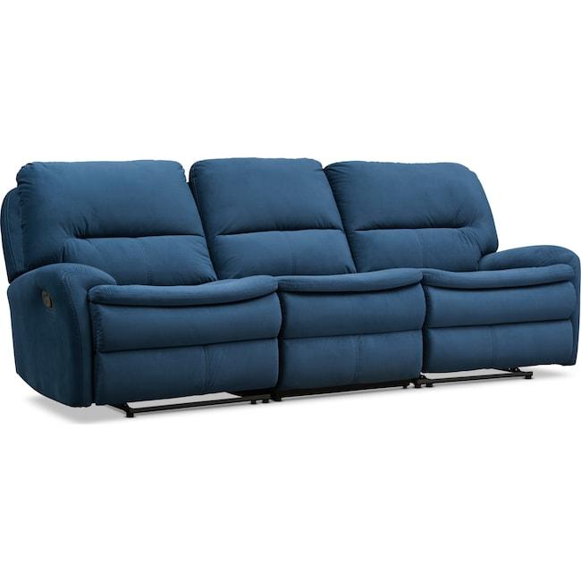 Living Room Furniture - Cruiser 3-Piece Manual Reclining Sofa - Ink