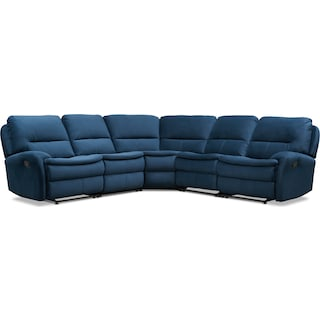 Cruiser 5-Piece Manual Reclining Sectional with 2 Reclining Seats - Ink