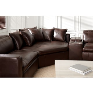 Happy 4-Piece Dual-Power Reclining Sectional with 2 Reclining Seats and Cuddler