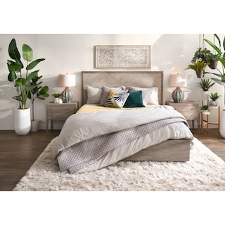 Zen King Bed - Urban Gray