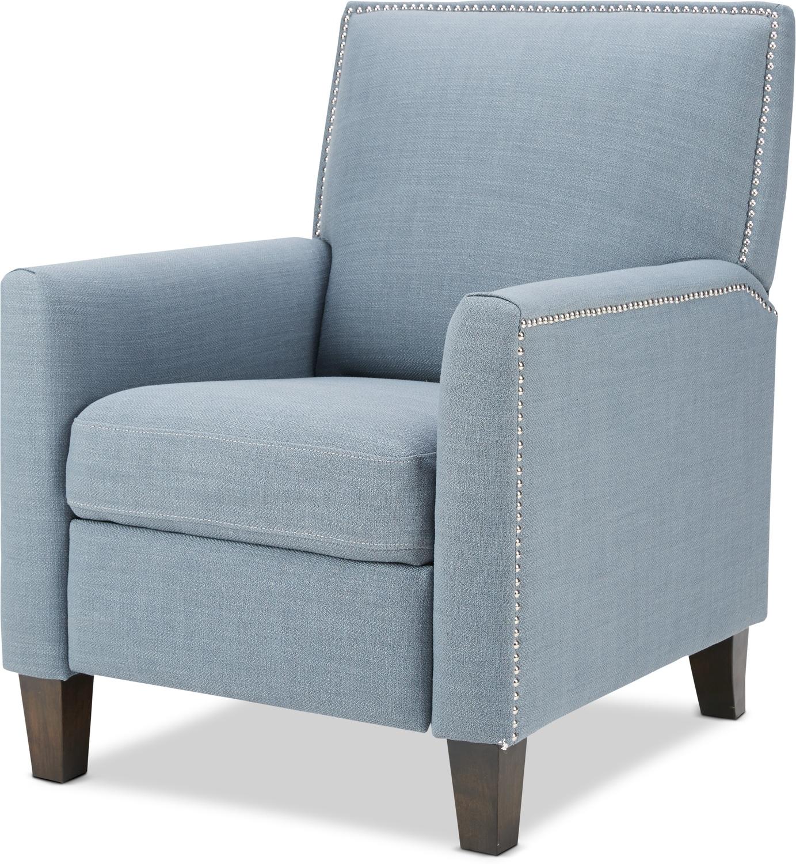 Living Room Furniture - Mason Manual Recliner - Blue