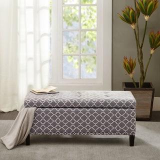 Eleanor Upholstered Storage Bench - Gray