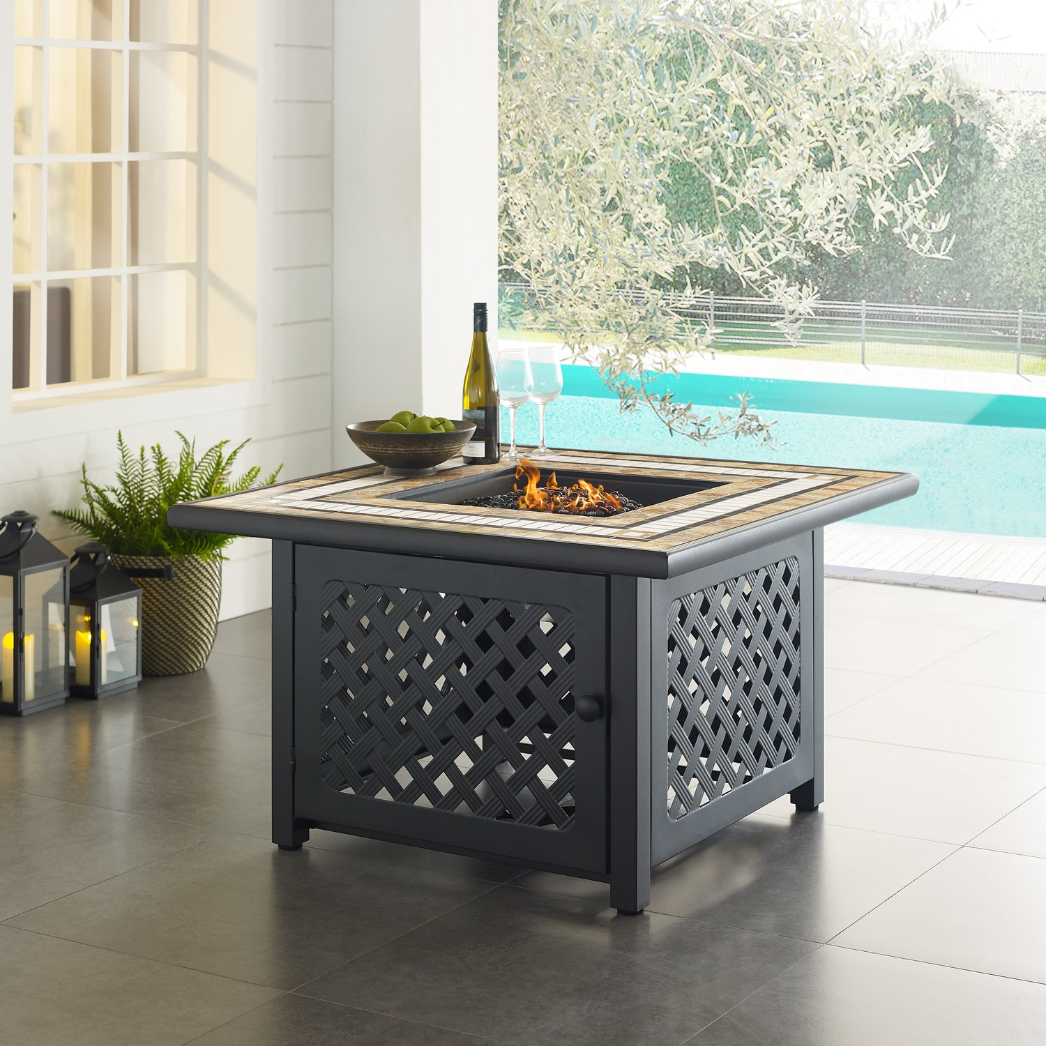 Outdoor Furniture - Brizo Fire Table