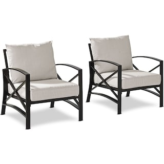 Clarion Set of 2 Outdoor Chairs - Oatmeal