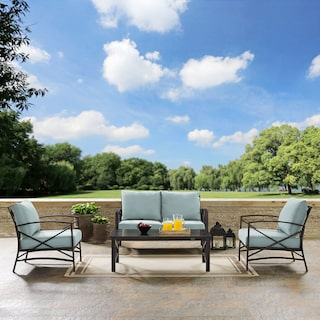 Clarion Outdoor Loveseat, 2 Chairs, and Coffee Table Set