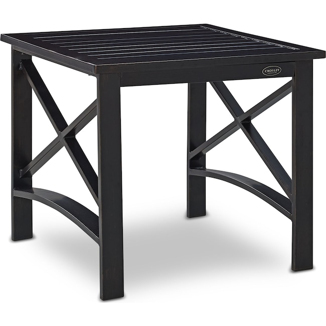 Outdoor Furniture - Clarion Outdoor End Table - Bronze