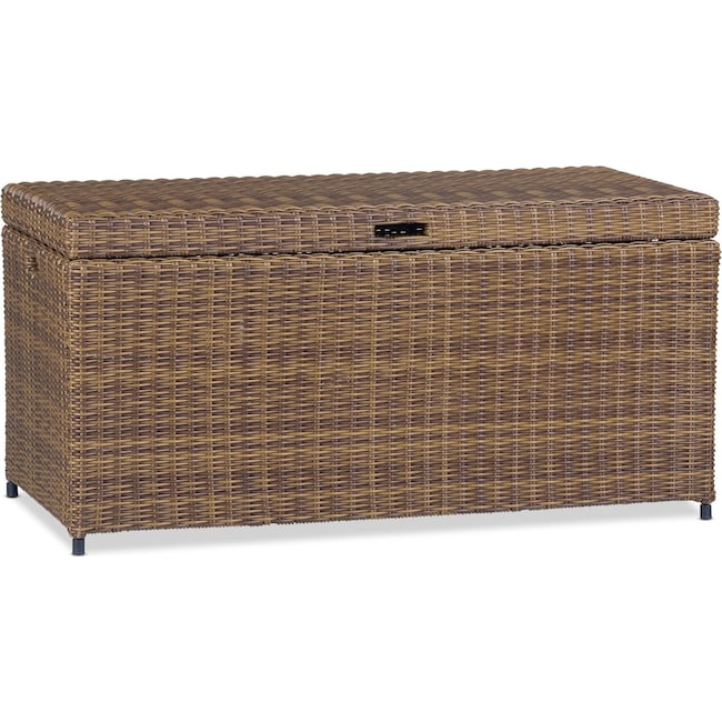 Outdoor Furniture - Jonah Outdoor Storage Bin - Brown