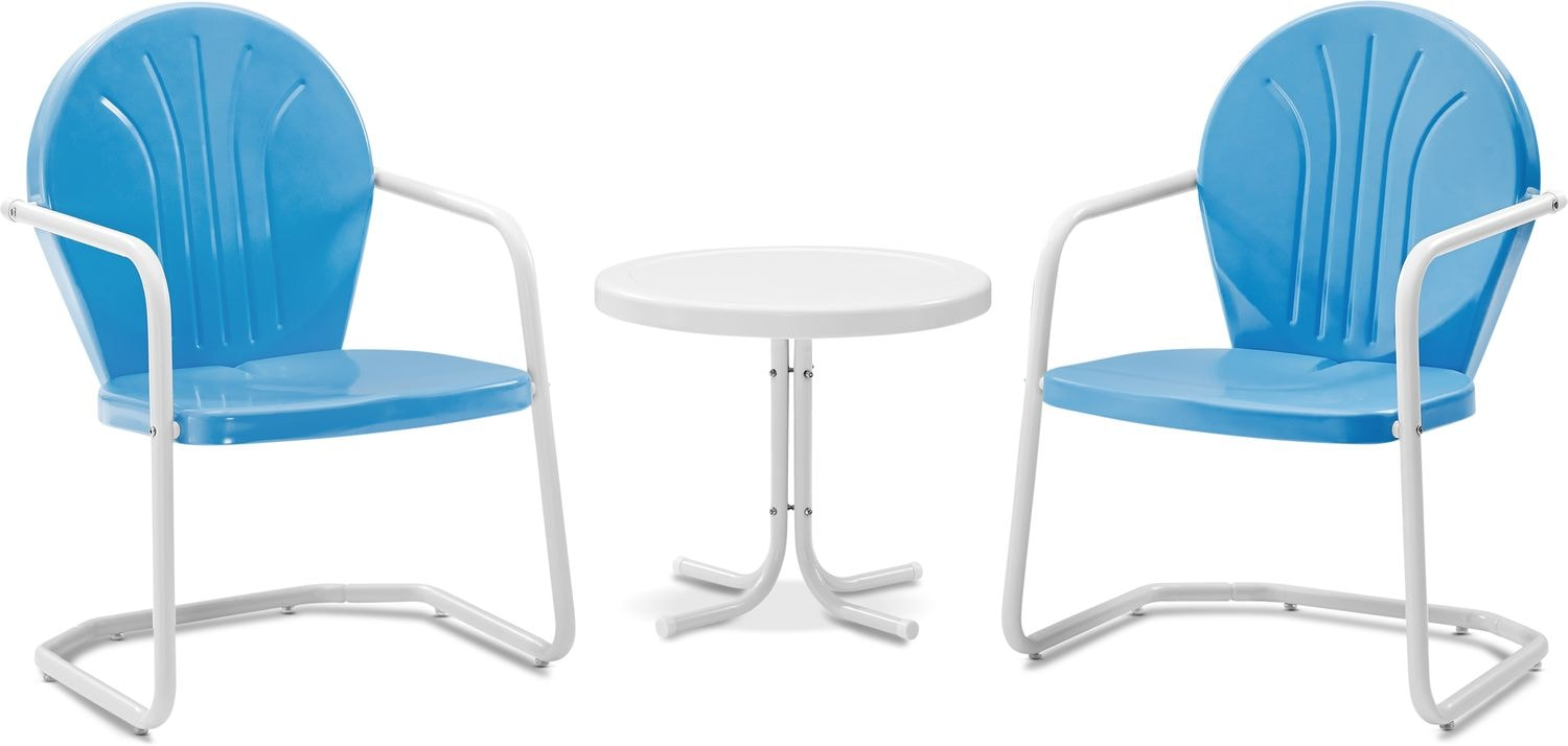 Outdoor Furniture - Kona Set of 2 Outdoor Chairs and Side Table