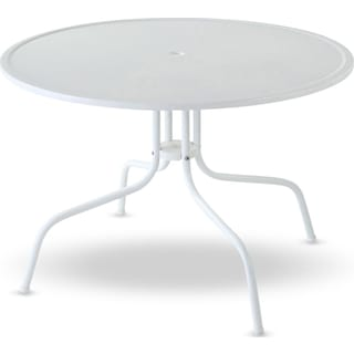 Kona Outdoor Bistro Table - White