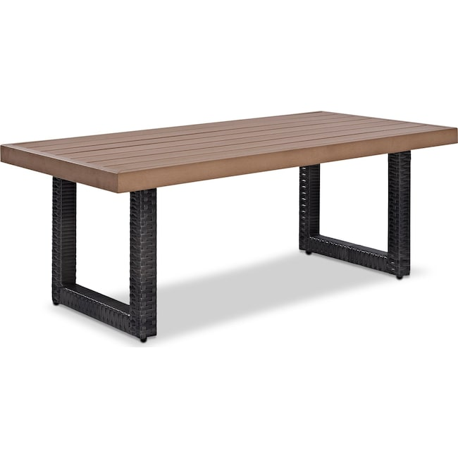 Outdoor Furniture - Tethys Outdoor Coffee Table - Brown