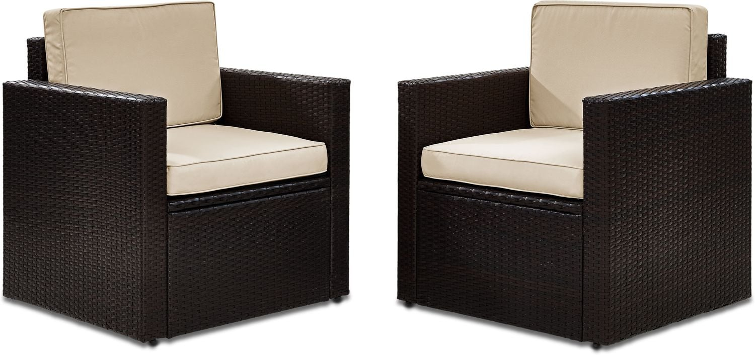 Outdoor Furniture - Aldo Set of 2 Outdoor Chairs