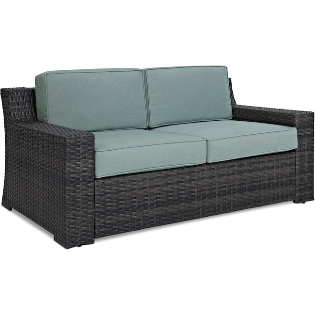 Outdoor Furniture - Tethys Outdoor Loveseat