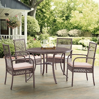 Zuma Outdoor Dining Table and 4 Chairs