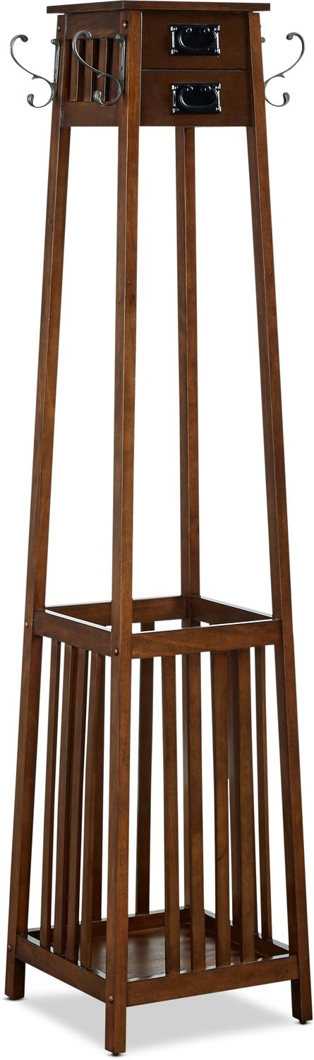Accent and Occasional Furniture - Briggs Coat Rack - Brown