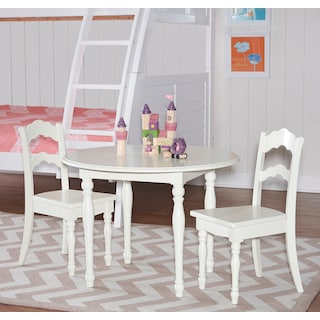Kendall Youth Table and 2 Chairs - White