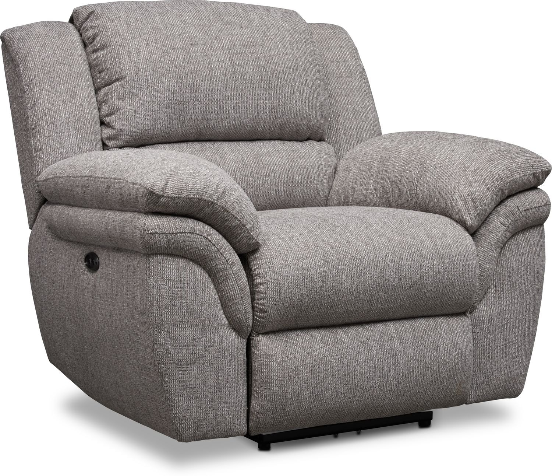 Living Room Furniture - Aldo Power Recliner